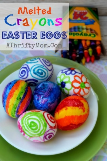 eggs with melted crayons