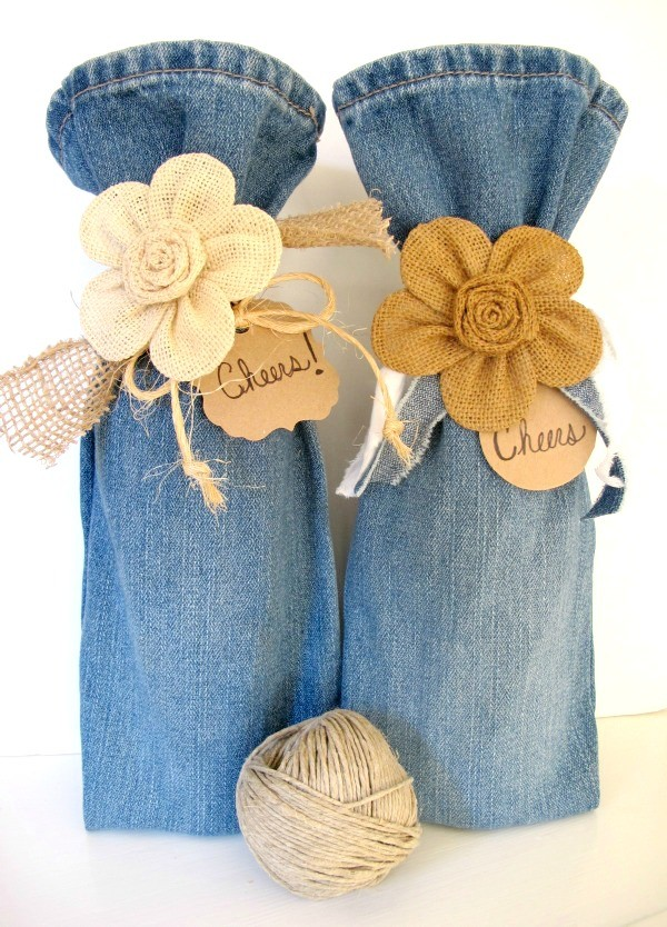 jeans wine bottle cover